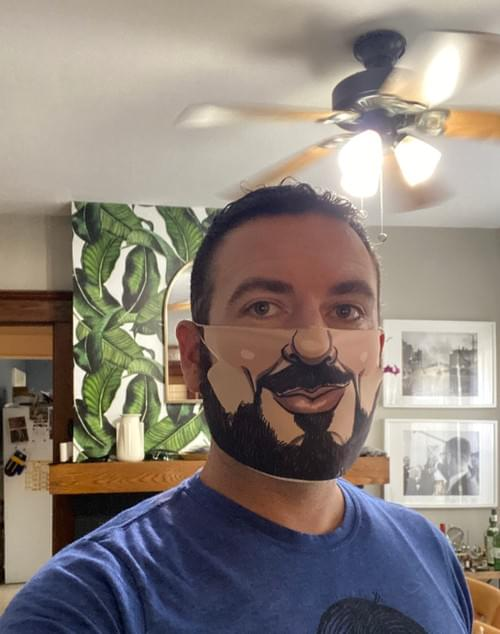 Custom COVID-19 Cartoon Mask