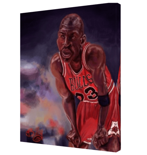 Michel Jordan Last Dance Digital Painting Canvas Print