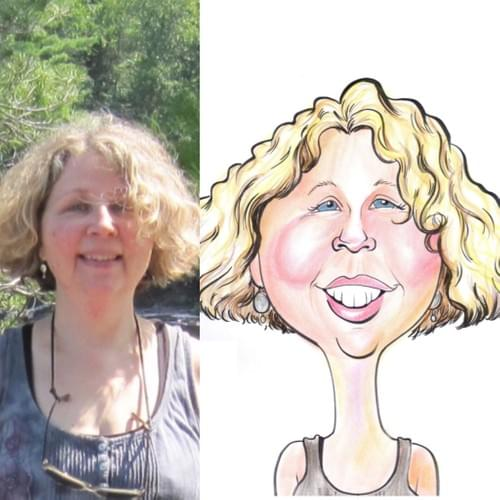 Custom Color head and shoulders Caricature from a photo