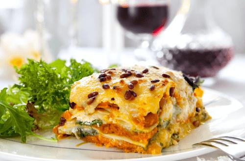 Roasted Butternut Squash, Garlic + Rosemary Lasagna