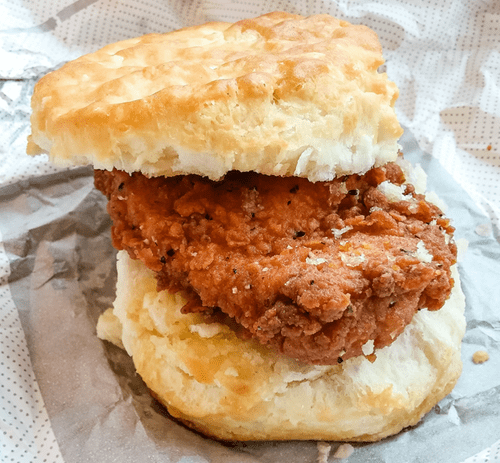Mini Chicken Nashville Sliders on buttermilk biscuits (Per 24)