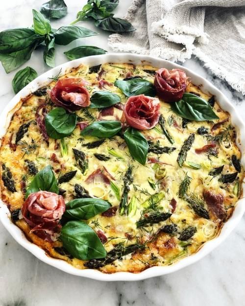 Asparagus & Prosciutto Tart