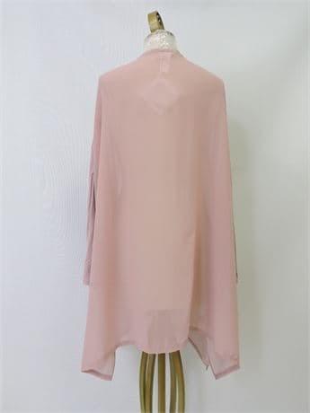 Ladies' Wynne Layers Mixed Media Chiffon Open Cardigan, Size 1X