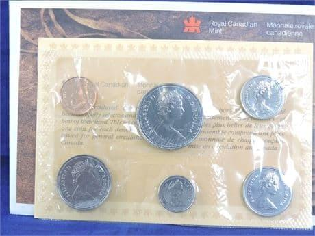 1985 Canadian 6-Piece Coin Set