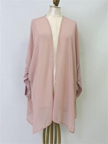 Ladies' Wynne Layers Mixed Media Chiffon Open Cardigan, Size 1X