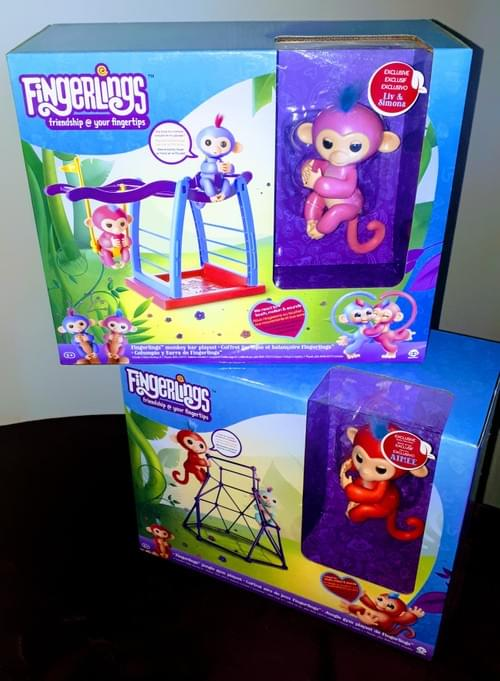 Authentic Wowwee Fingerlings Jungle Gym Playset w/Aimee Baby Monkey