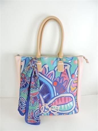 Cloe Printed Tote Bag