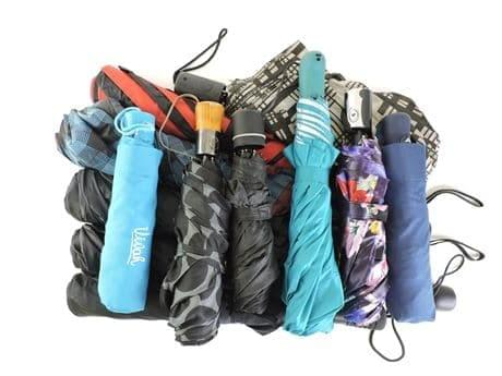 Lot of (12) Assorted Compact Umbrellas