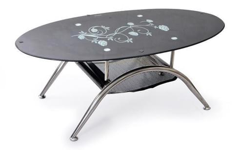 Oval Glass Centre Table