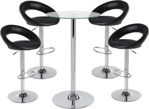 Table and 4 bar stool