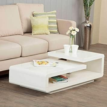 white centre table