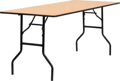 Wooden Top Banquet table