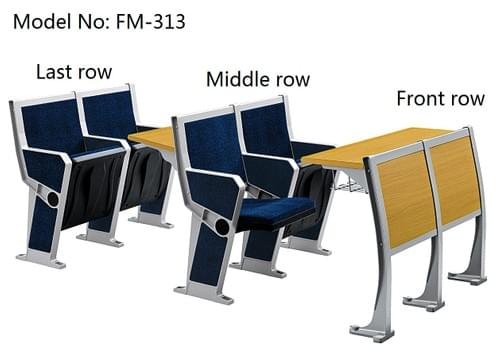 Advanced lecture room chair and desk