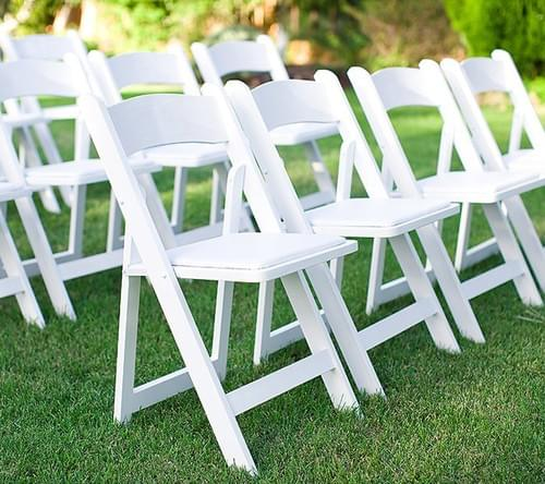 Wimbledon Outdoor chair - white folding chair