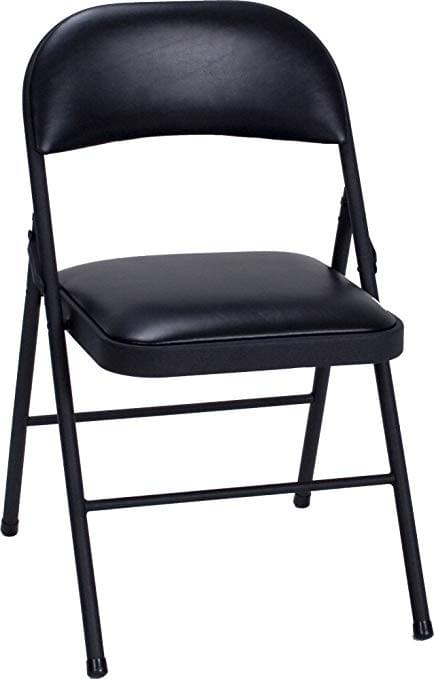 Leather padded folding chair (steel)