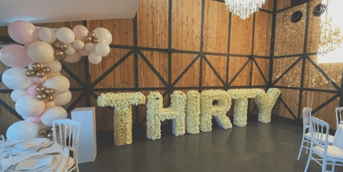 WHITE/CREAM FLORAL LETTERS