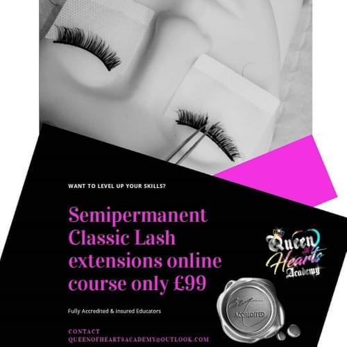 Semi permanent Classic Lash Extensions - Online course.