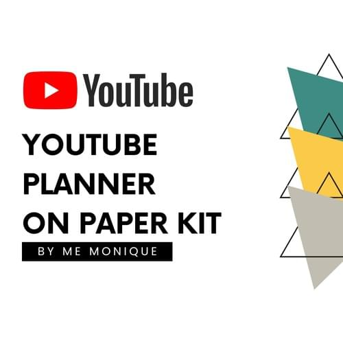 YouTube Video Planner   Basic Black and White YouTube Printable   YouTube Content Planner