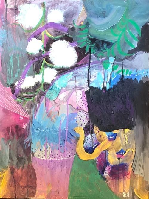 Purple Vase Overflowing