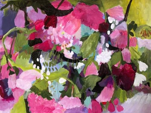 So Many Pinks, So Little Time 2  (detail shown)