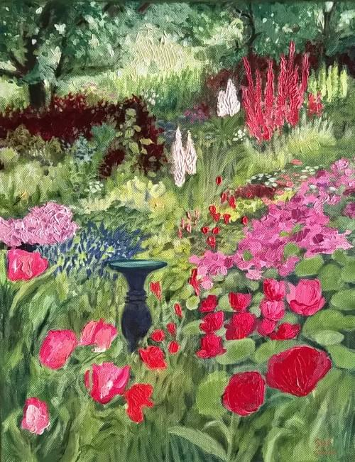 Birdie's Garden   Oil on gallery wrap canvas