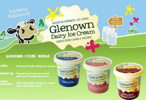 Glenown Dairy Ice Cream, Made in Fermoy using their own Family Recipe