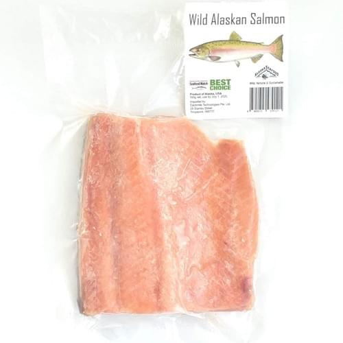 Frozen Wild Alaskan Salmon Fillet | 冷冻野生阿拉斯加三文鱼片