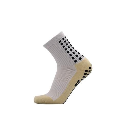 膠底 防滑足球襪 短筒 白色