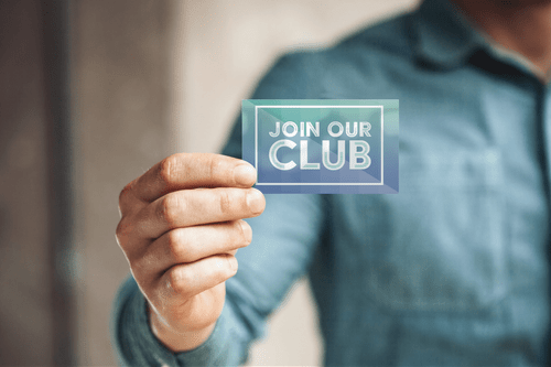 """JOIN OUR CLUB"" BUSINESS CARDS"