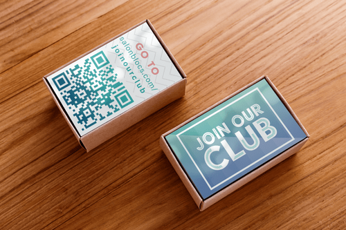 """""""JOIN OUR CLUB"""" BUSINESS CARDS"""