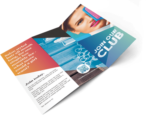 """JOIN OUR CLUB"" TRIFOLD LEAFLETS"