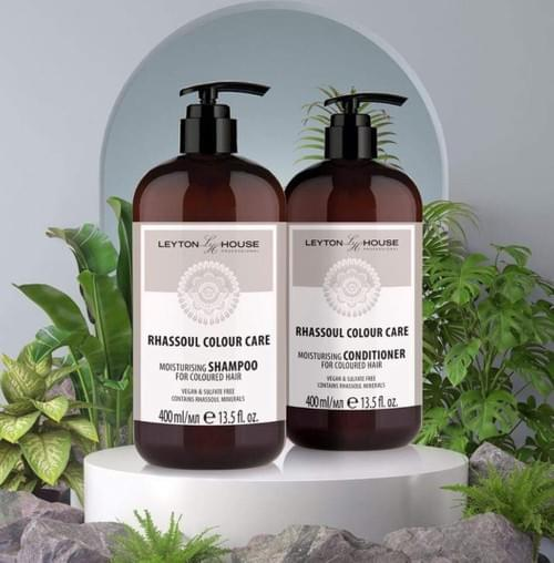 Leyton House Rhassoul Colour Care (Large 2x 400ml) - Available in Salon ONLY