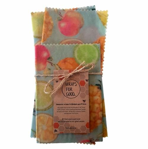 Beeswax Wraps 3pack - Fruit Salad
