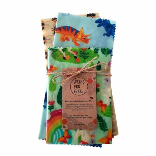 Beeswax Wraps 3pack - Kids Mixed