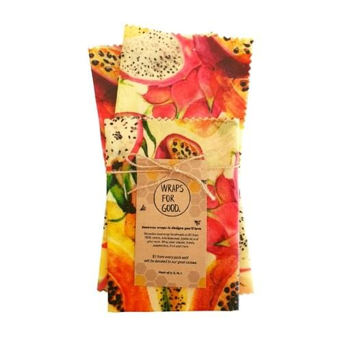 Beeswax Wraps 3pack - Seed Fruit