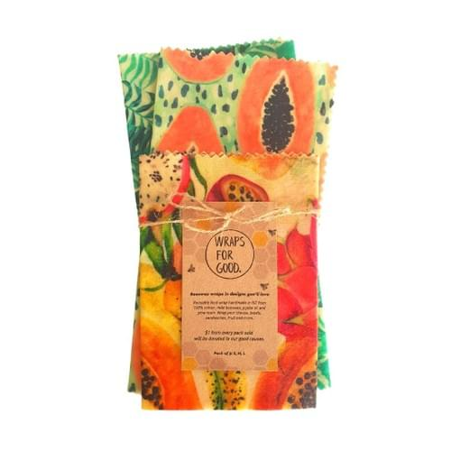Beeswax Wraps 3pack - Tropical Mix