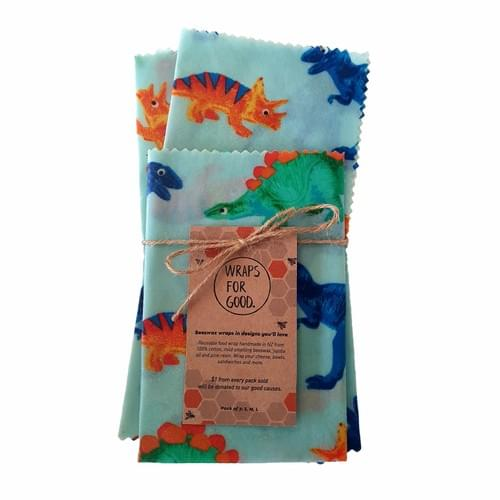 Beeswax Wraps 3pack - Dinos