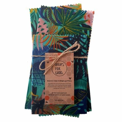 Beeswax Wraps 3pack - Paradise
