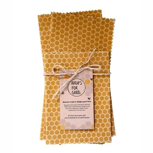 Beeswax Wraps 3 pack - Honeycomb