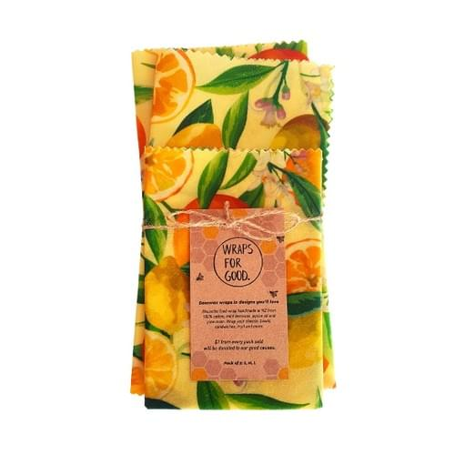 Beeswax Wraps 3pack - Citrus