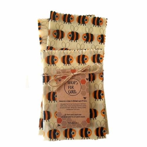 Beeswax Wraps 3pack - Bees