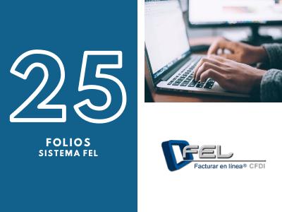 25 Folios para Sistema FEL
