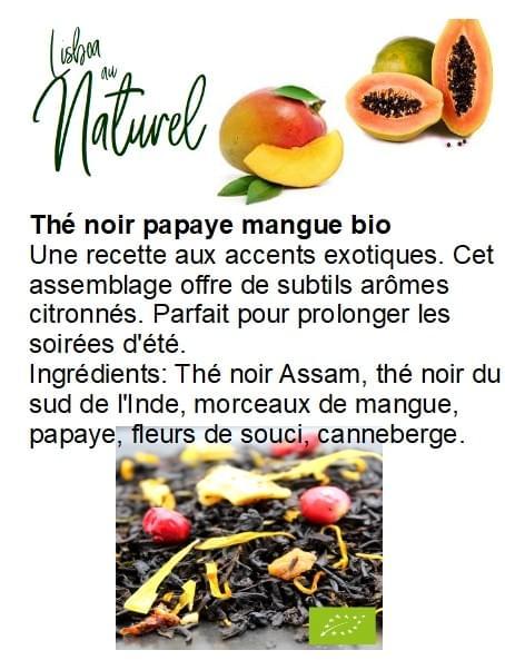 Thé noir papaye mangue bio (50gr - 100gr)