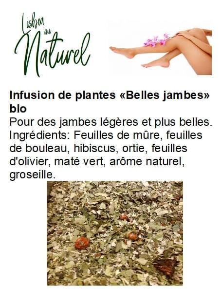 Infusion de plantes bio «Belles jambes» (50gr- 100gr)