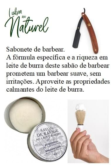 Sabonete de barbear com leite de burra, 90 g