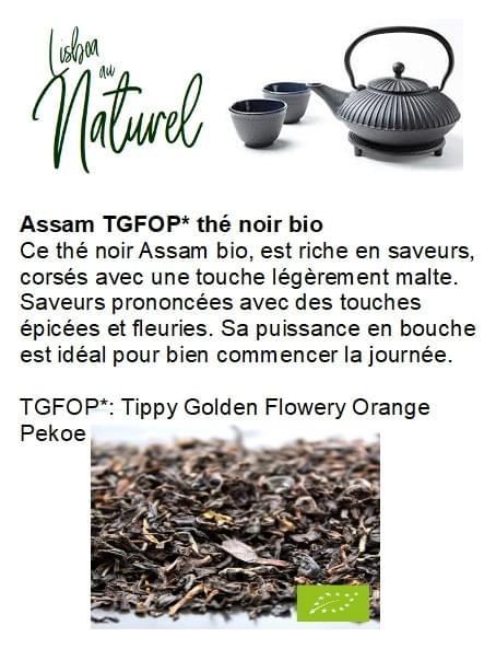 Assam TGFOP thé noir bio (50gr - 100gr)