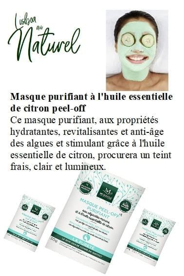 Masque purifiant peel-off à l'huile essentielle de citron, 30 g