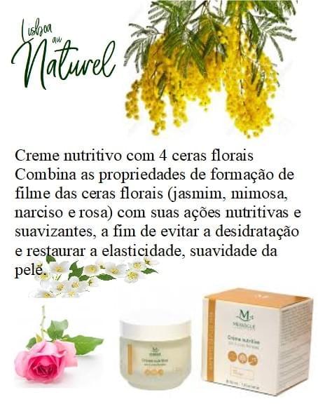Creme nutritivo com 4 ceras florais, 50 ml