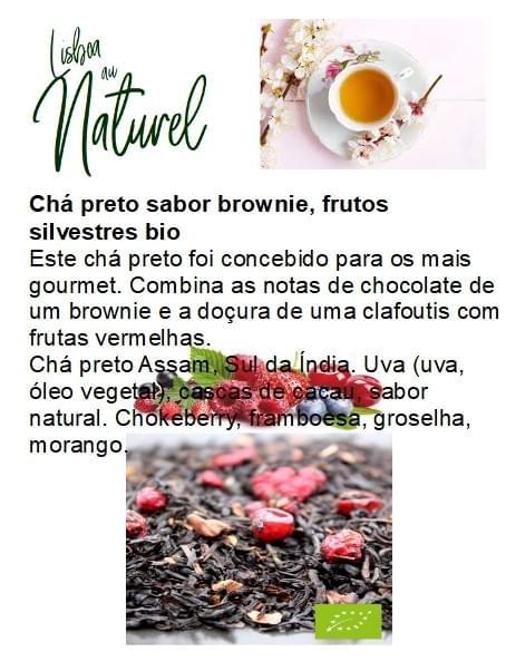 Chá preto sabor brownie e frutos silvestres bio (50gr - 100gr)