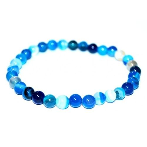 Agate bleue 6mm